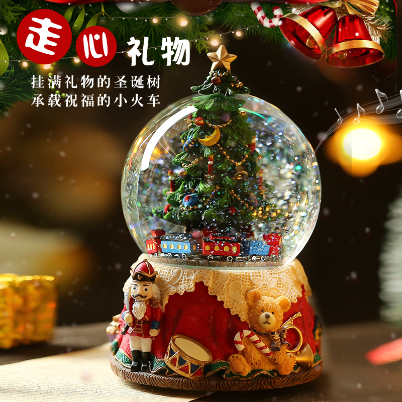Queen's Day wish tree snowflake crystal ball music box octave box Bluetooth speaker for girlfriend and children's birthday gift