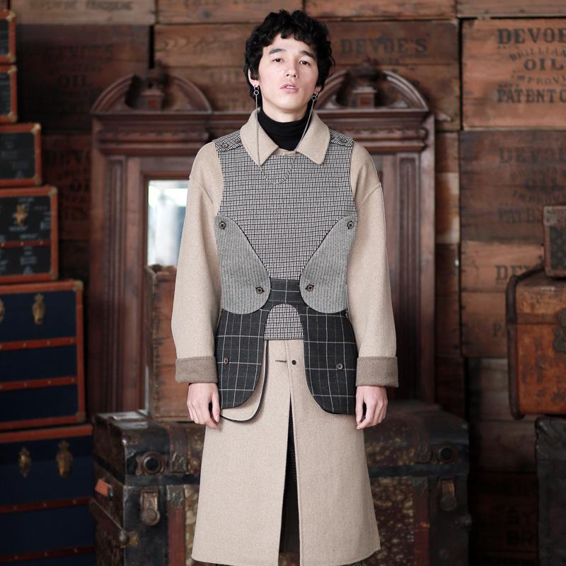 格洛斯特 复古盔甲自由组装套装双面两穿羊毛大衣 山谷少年男装