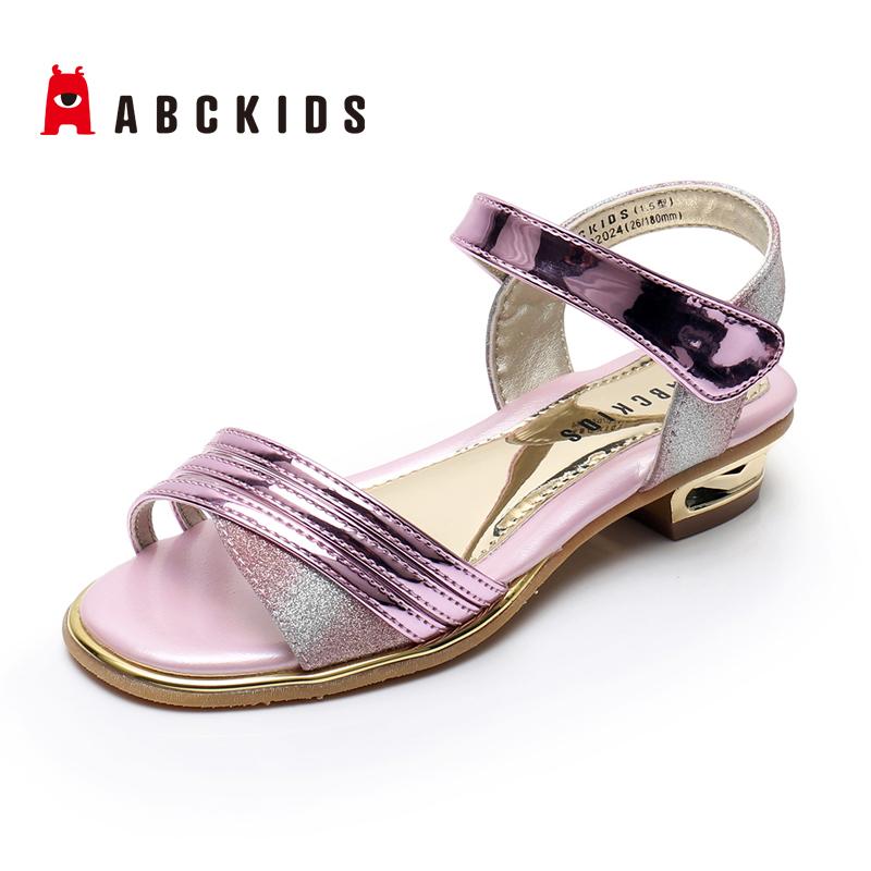 ABCKIDS童鞋女凉鞋2020夏款皮凉中小公主鞋P921202024P921302100