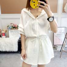 Holiday pants suit Women Summer 2019 Korean version with wide legs, pants, high waist, thin and loose dress pants