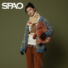 SPAO, our naked bear couple cardigan sweater, autumn and winter 2019, new Korean fashion spck94vd25p