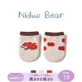 尼多熊2020地板袜婴儿厚底春秋纯棉儿童隔凉防滑袜宝宝学步袜秋冬图片