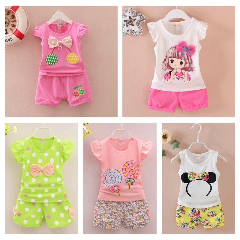 ����夏�b套�b女1-3�q2女童夏季�棉短袖T恤0小童洋�庖路���和��b
