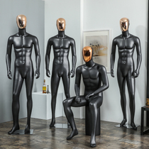 New electroplating full-body model clothing props mens shop Black scrub dummy window display Muscle model rack