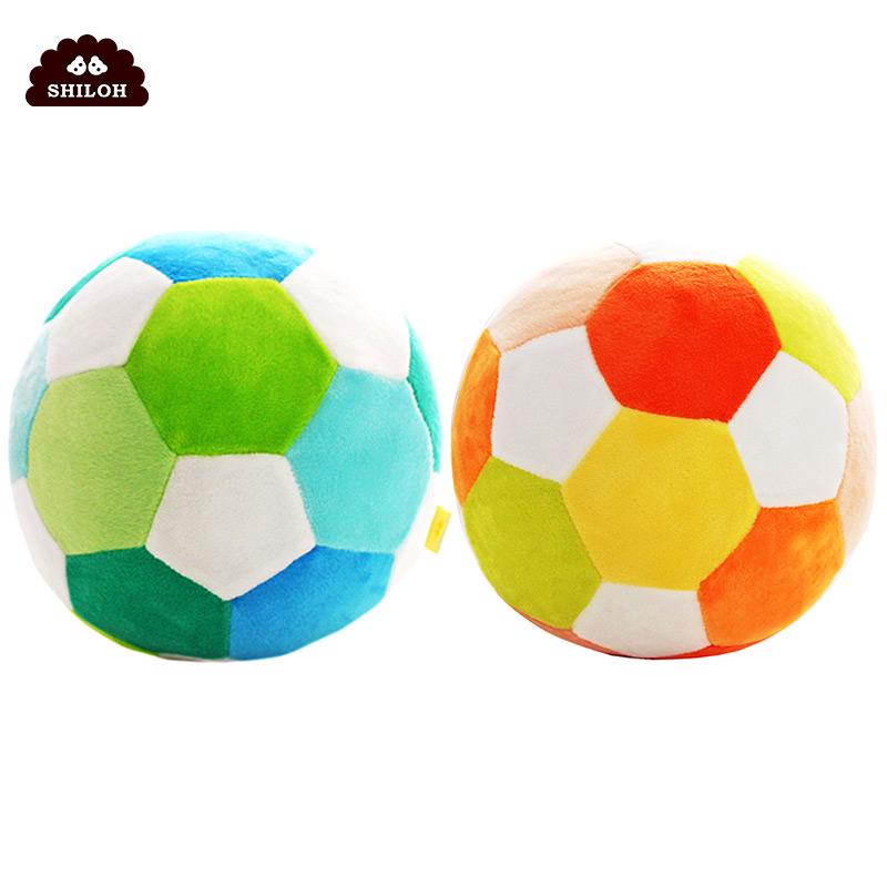 嬰兒手抓球玩具搖鈴球新生兒益智毛絨布球寶寶足球鈴鐺球玩具