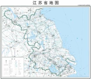 打印定制高清电子版素材交通水系卫星地形政区地图尺寸江苏省