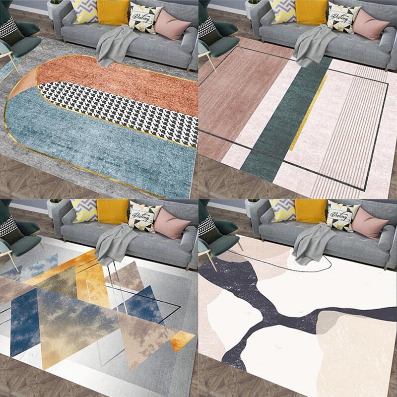 现代简约北欧ins风地毯客厅茶几垫房间卧室床边毯网红家用可机洗