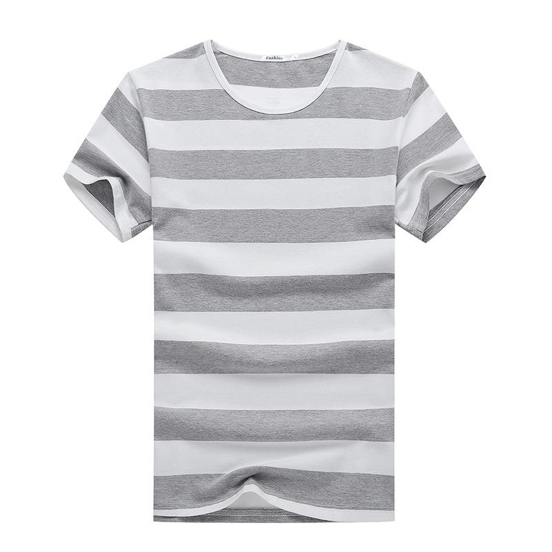 夏白色短袖t恤男装纯棉休闲潮牌潮流圆领新款个性时尚体恤上衣服
