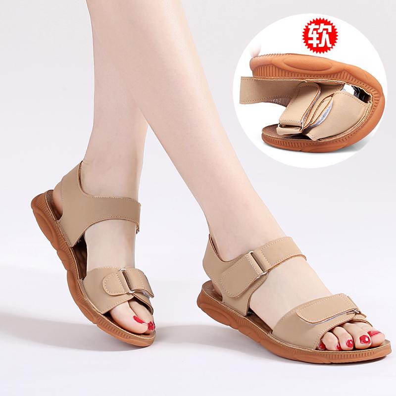 2021年新款平底夏季孕妇百搭凉鞋