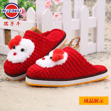 Willing ox non-slip soles manual wool cotton shoes bottom goosegrass sole abrasion resistance drop solid slippers