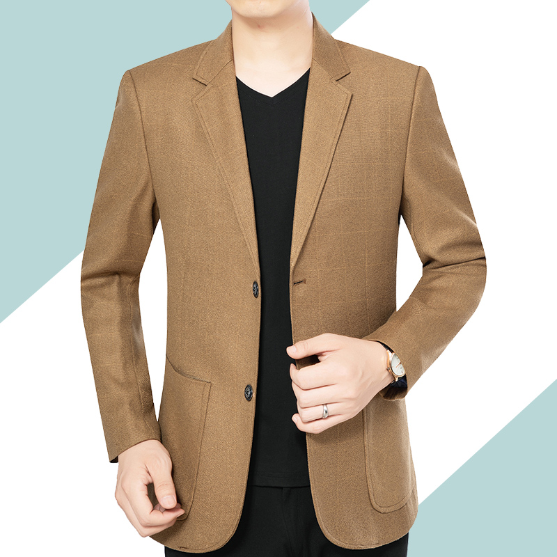 2021 spring and autumn middle-aged mens casual suit mens slim Korean suit coat mens formal dress new trend handsome