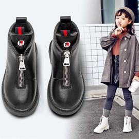 女童靴子2020潮秋季新款冬小公主加绒短靴洋气马丁儿童靴小孩冬鞋