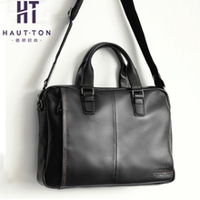 Houghton handbag, men's leather, large capacity horizontal style, one shoulder messenger bag, head layer, leather briefcase, business men's bag