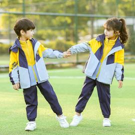 儿童冲锋衣三合一男童女童春秋装幼儿园园服班服小学生校服套装冬