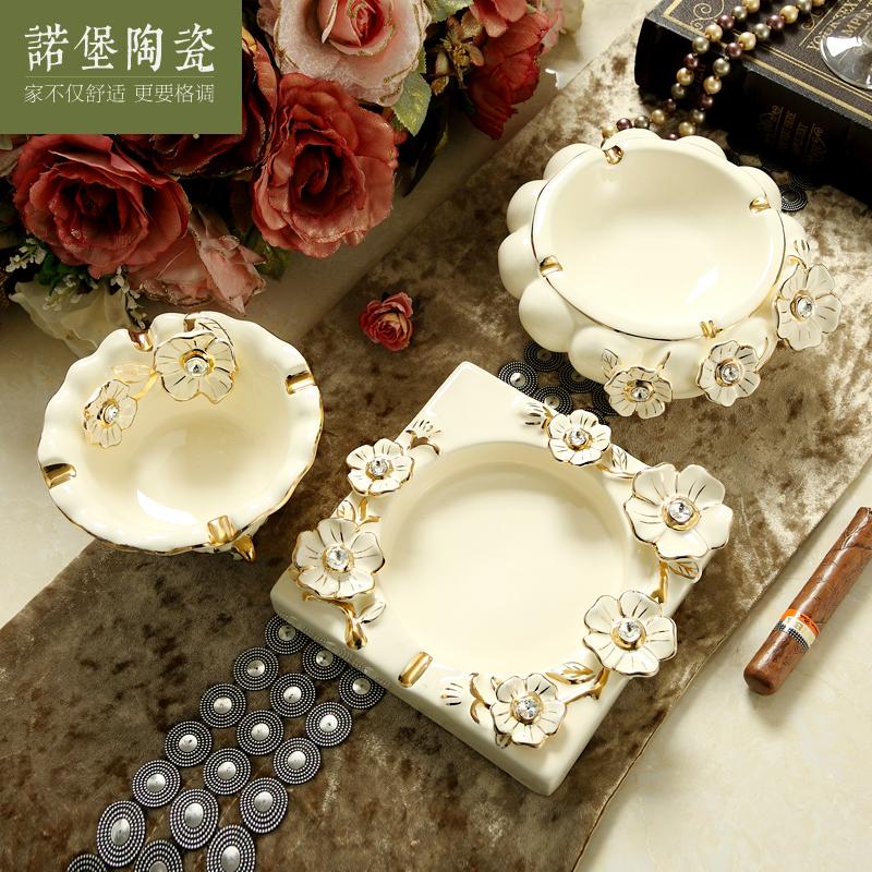 欧式烟灰缸个性创意时尚客厅办公室大号陶瓷烟灰缸创意礼物,可领取5元天猫优惠券