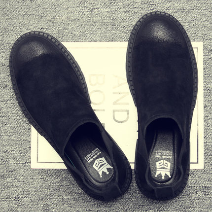 男鞋冬季潮鞋百搭高帮马丁靴男夏季短靴透气棉鞋英伦风切尔西靴子