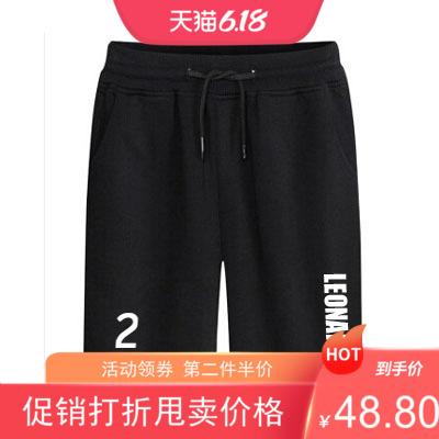 2020新款伦纳德球衣裤篮球 短裤男休闲裤 莱昂纳德运动裤纯棉卫裤