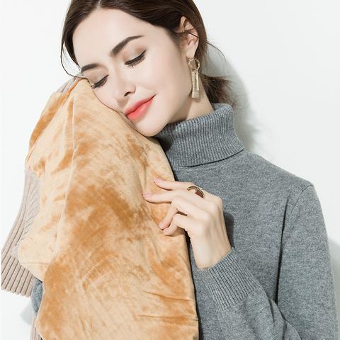 超火内搭高领加厚打底毛衣女冬季套头保暖加绒针织衫2019时尚新款