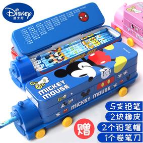 迪士尼多功能男铅笔盒多层铅笔袋