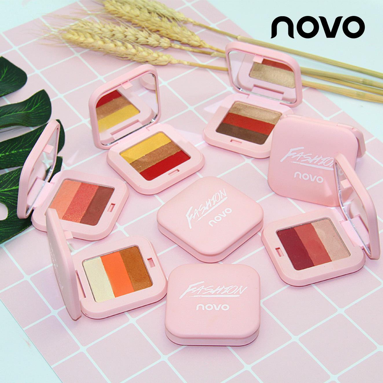 NOVO灵动三色渐变眼影盒 便携式多色可选 百搭易上色3色眼影盒