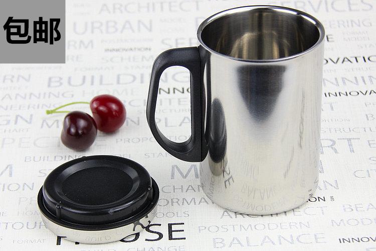 不锈钢双层隔热防烫随手杯啤酒杯马克杯漱口杯茶水杯果汁杯冷饮杯