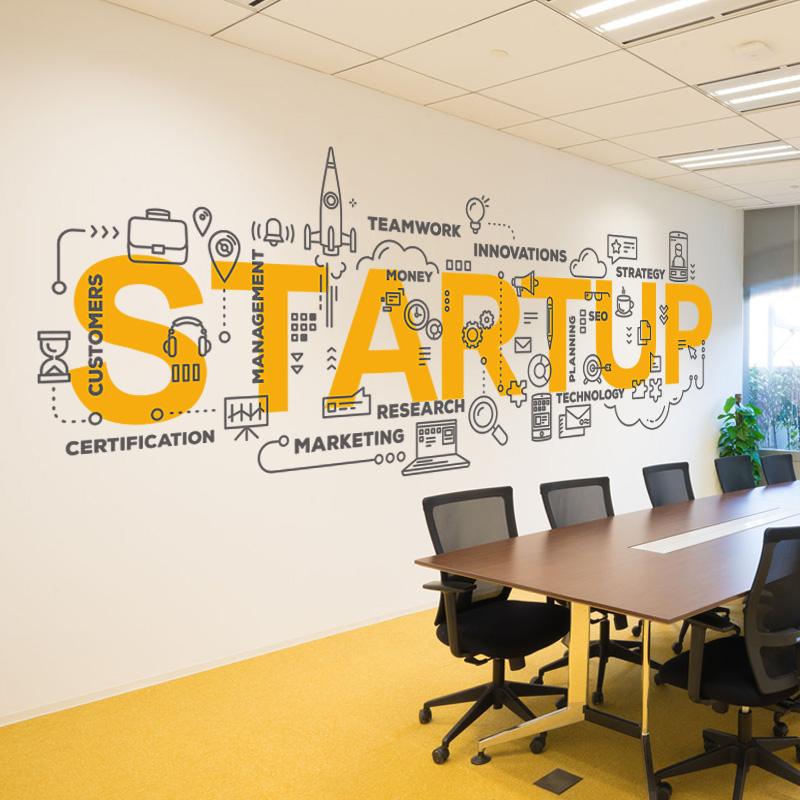 创意企业文化墙装饰贴纸公司办公会议室文字励志标语墙贴画布置