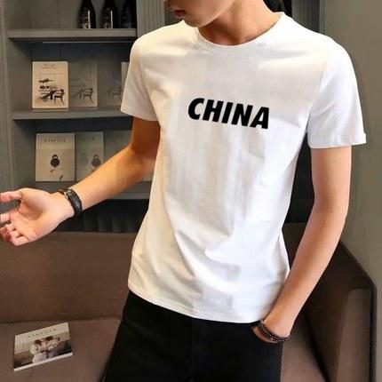 九块九男士短袖t恤夏天便宜体血衫丅裇侐恤皿韩版帅气上衣服9.9。