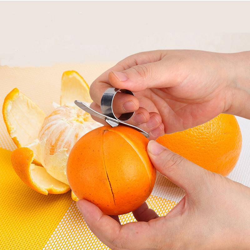 橙子剥皮器剥橘子神器不锈钢去皮剥橙器切水果神器创意厨房小工具