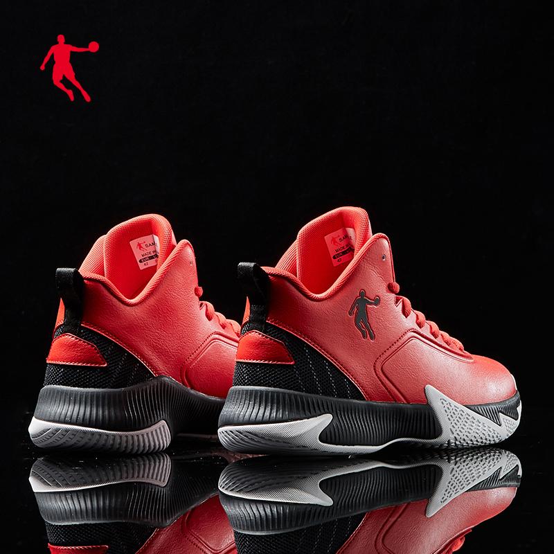 乔丹篮球鞋男鞋2020秋冬新款运动鞋实战战靴耐磨减震中帮皮革球鞋图片