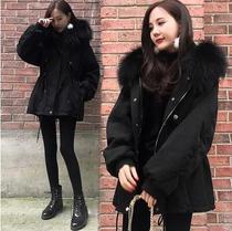 胖mm大码冬棉袄女新款棉服外套女胖妹妹毛领中长款加厚棉衣200斤