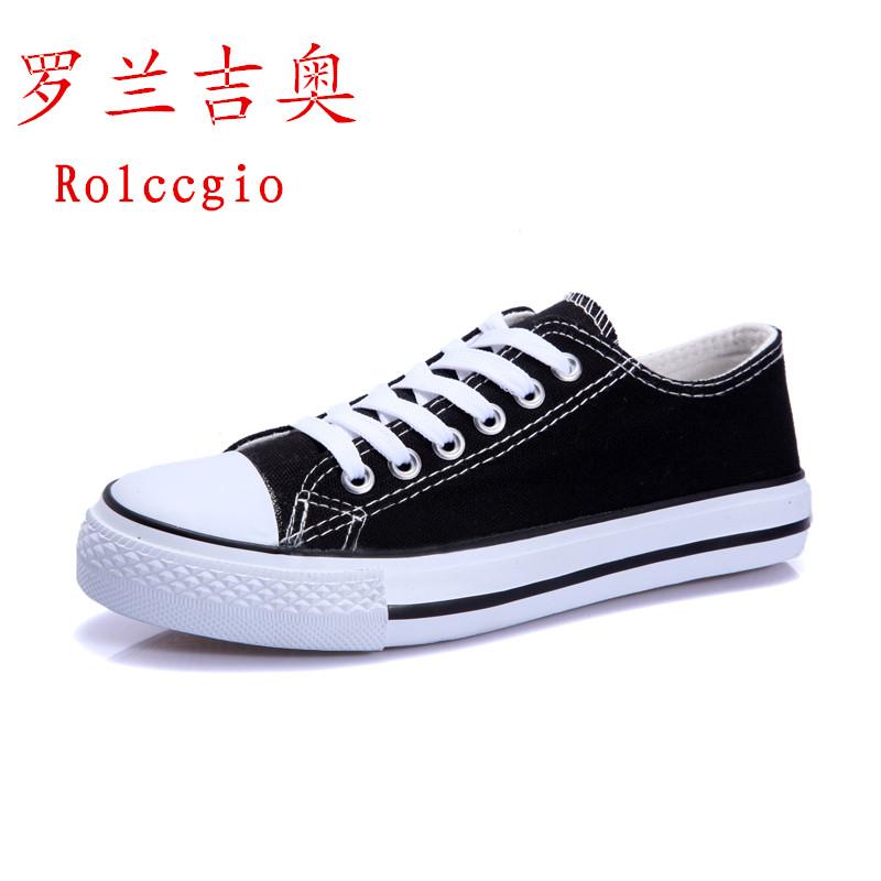 黑白色 低幫學生情侶鞋