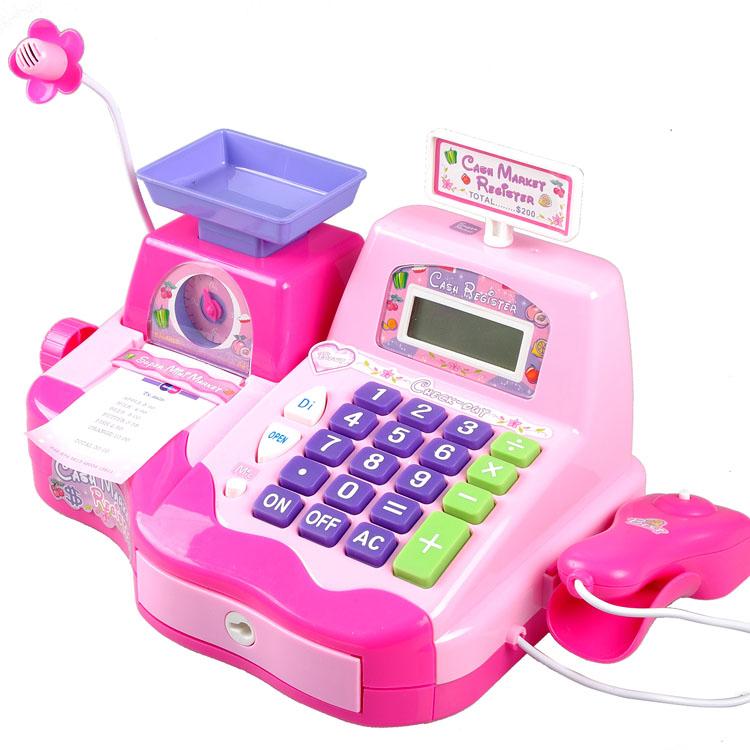 五星超市收銀機寶寶益智兒童玩具3~6周歲仿真收銀台男女孩過家家