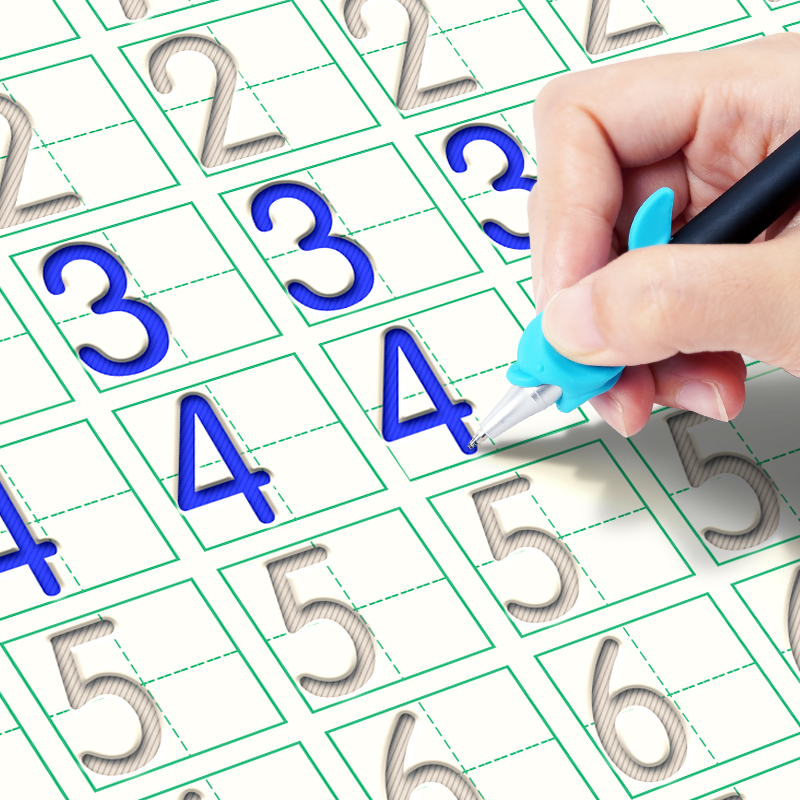 儿童练字帖数字描红本幼儿园魔法凹槽写字帖学前启蒙全套初学者贴