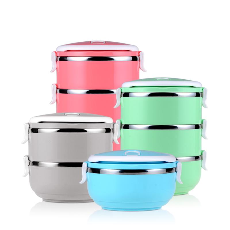 唐貴妃304不鏽鋼飯盒便當盒2層3層可愛學生餐盒雙層保溫碗保溫桶