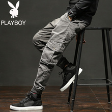 Playboy autumn and winter jeans men's loose Korean fashion casual pants autumn Leggings