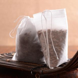 100个10x15无纺布抽线茶包袋袋泡茶茶叶包袋煲汤茶包中药袋其它包