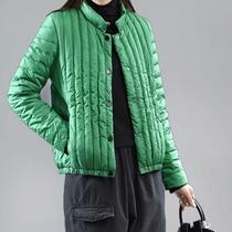 轻薄棉衣女短款2020新款秋冬季羽绒棉外套女韩版宽松小个子白棉服