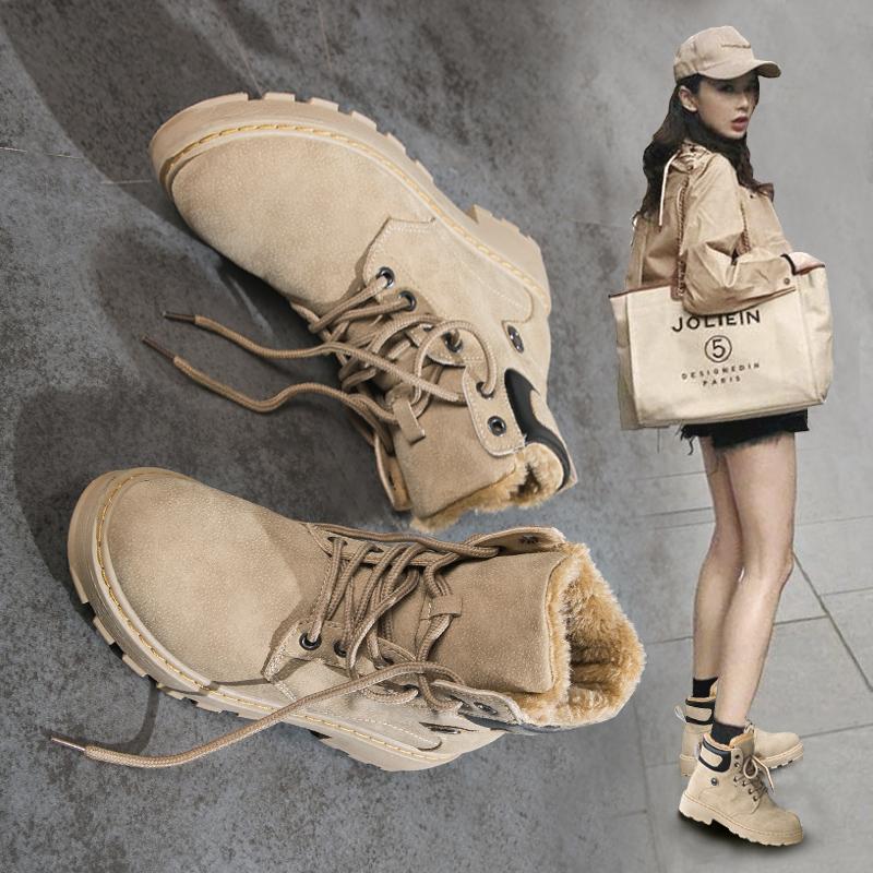 马丁靴女冬加绒加厚