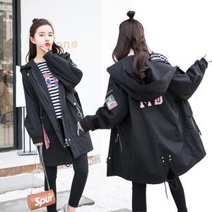 孕妇春秋装外套韩版孕妇风衣大码孕妇开衫上衣新款孕妇装秋装外套