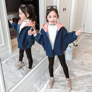 女童冬装外套2020新款洋气加厚儿童秋冬宽松羊羔毛绒网红女孩大衣
