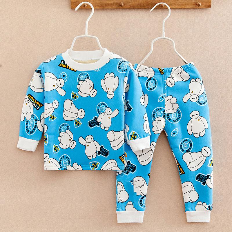兒童保暖內衣套裝 男童女童寶寶小孩秋衣 加絨加厚 潮套裝