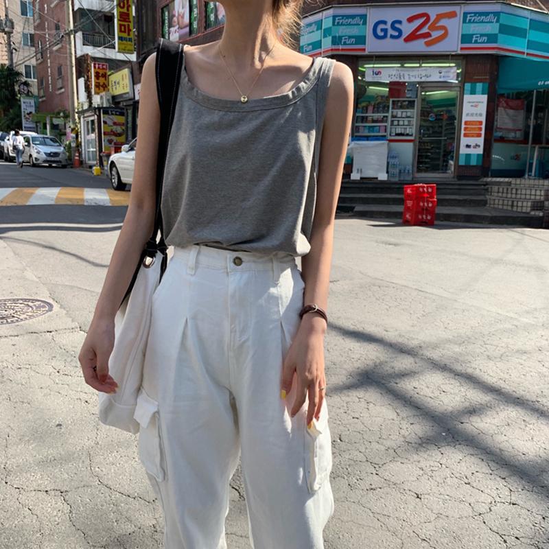 吊带女夏外穿宽松嘻哈运动无袖t恤(用3.02元券)