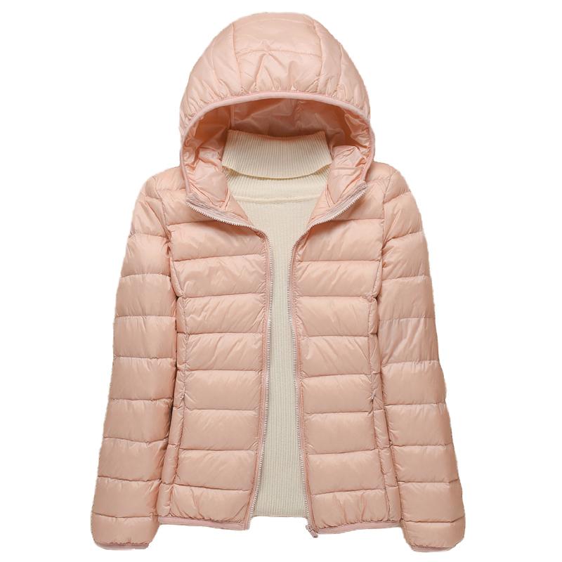 2020新款轻薄羽绒服女连帽轻便保暖修身时尚薄款秋冬女装外套大码