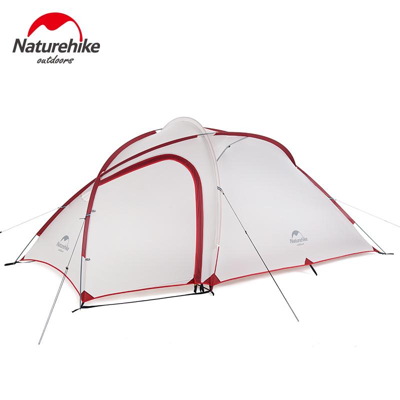 NH海比一室一厅帐篷户外双人3-4人登山野营双层防雨帐篷钓鱼帐篷