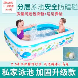 儿童充气游泳池家用海洋球池加厚大号孩子戏水池养鱼池玩具沙池