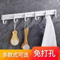 壁挂折叠客厅衣帽钩免打孔挂钩强力粘胶单个挂衣钩卫生间浴室粘钩