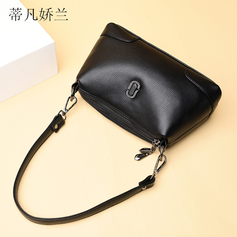 2020 mother bag new soft leather messenger bag Japanese and Korean lady small bag single shoulder cross carry portable large capacity solid color bag