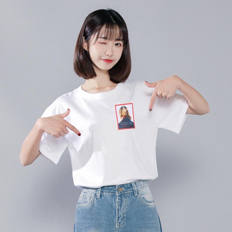 2020新款潮白色短袖女韩版超火t恤