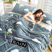 夏季珊瑚毯子夏天盖毯午睡毛巾小被子垫床单人薄款空调法兰绒毛毯