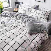 珊瑚絨四件套冬季雙面加絨三件套絨面床單被套加厚法蘭絨床上用品